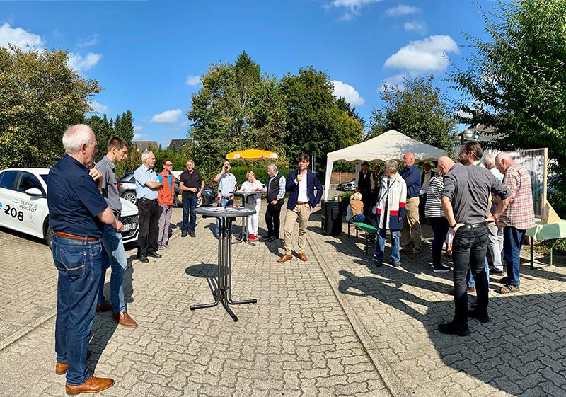 Veranstaltung zu Elektromobilität am 14.9.2021 Foto: A.Faust